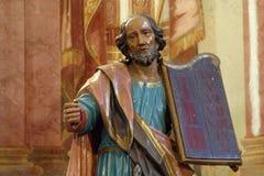 Моисей проводя 10 заповедей Стоковые Изображения RF