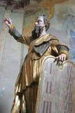 Моисей проводя 10 заповедей Стоковые Изображения