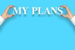 мои планы Стоковые Изображения