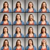 Мои 16 различных настроений стоковое изображение rf