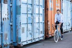 Мой велосипед делает меня счастливый Стоковое Изображение RF