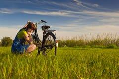 Мой велосипед сломленн Стоковая Фотография