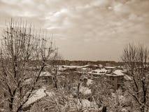 Мой городок в декабре Стоковое Изображение RF