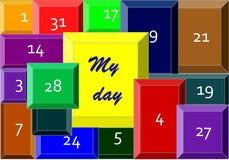 Мой день бесплатная иллюстрация