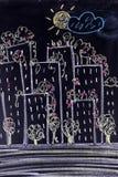 Мой новый город Стоковые Изображения RF