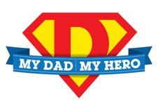 Мой папа моя футболка героя Стоковое Изображение
