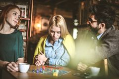 мой поворот 3 друз на кафе Стоковое Изображение
