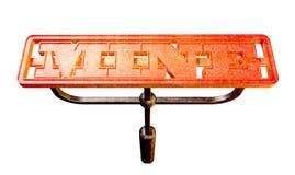 Мой фронт бренда металла накаляя накаленный докрасна Стоковая Фотография RF