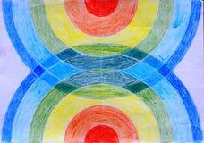 Мой чертеж красочных кругов иллюстрация вектора