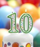 Мой 10th день рождения Стоковые Изображения