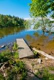 Мола в воде Стоковая Фотография
