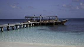 мола Мальдивы dhoni деревянные Стоковая Фотография RF