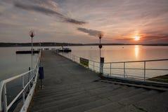 Мола на озере Стоковое Изображение