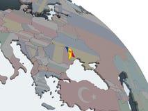 Молдавия с флагом на глобусе бесплатная иллюстрация
