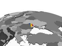 Молдавия с флагом на глобусе иллюстрация штока