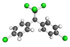 Молекула ДДТ Стоковое Изображение