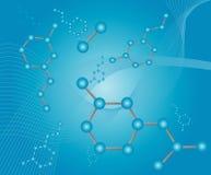 молекула иллюстрации Стоковое фото RF
