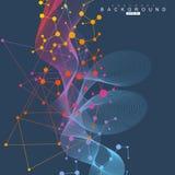 Молекула и связь структуры Дна, атом, нейроны Научная концепция для вашего дизайна Соединенные линии с точками Стоковые Изображения