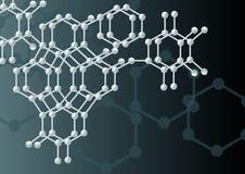 молекула предпосылки Стоковое Изображение RF