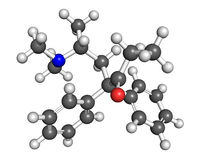 Молекула Methadone бесплатная иллюстрация