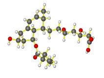 Молекула pravachol Стоковое фото RF