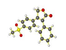 Молекула vioxx Стоковое Изображение