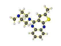 Молекула zyprexa Стоковые Изображения