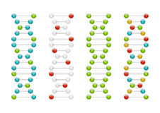 Молекулы дна Стоковое Фото