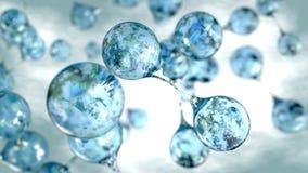 молекулы 3d предпосылки концепции воды иллюстрация вектора