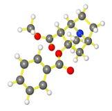 молекулярная кокаина модельная Стоковая Фотография RF