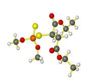 молекулярная малатиона модельная Стоковая Фотография