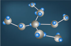 Молекулярная структура Стоковая Фотография RF