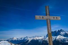 Молитва для лыжника Стоковые Фото