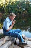 молитва озера стоковое фото