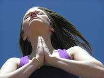 молитва силы Стоковое Фото