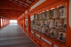 Молитва символов каллиграфии виска Японии деревянная Стоковая Фотография RF