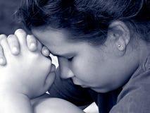 молитва девушки Стоковые Изображения RF