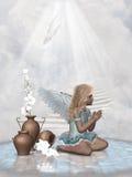 молить ангела Иллюстрация вектора