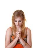 молить девушки предназначенный для подростков Стоковые Изображения
