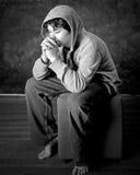 молить мальчика Стоковая Фотография RF