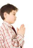 молить мальчика Стоковые Изображения RF
