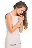 Молить молодой женщины стоковое фото
