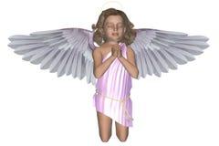 молить 4 ангелов Иллюстрация вектора
