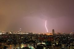 Молния Бангкока стоковое фото rf