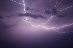 молния болта мощная Стоковая Фотография RF