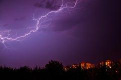 Молния в небе Стоковое Фото
