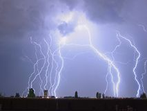 Молния в шторме Стоковые Фото