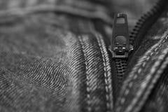 Молния голубых джинсов Стоковое Изображение RF