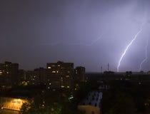 молния города Стоковое фото RF