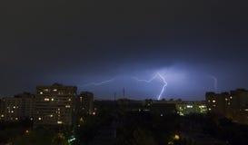 молния города Стоковая Фотография RF